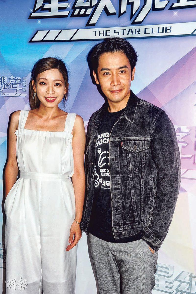 歌莉雅(左)與李日朗(右)首次合作,即互笠高帽。(攝影/記者:陳釗)