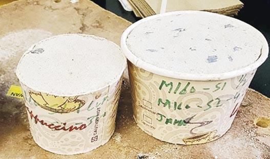 美國紐約市警察局長6月8日在社交網站發文和圖片,稱在示威現場發現有人將混凝土偽裝成雪糕,惟不少人隨即指出,在建築工地用這種容器測試混凝土的做法常見。(網上圖片)