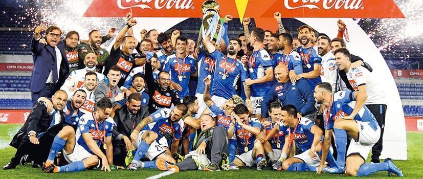 意大利盃近11年來首次要以互射12碼分高下,最終拿玻里(圖)以4:2擊敗祖雲達斯,第6次奪標。(新華社)