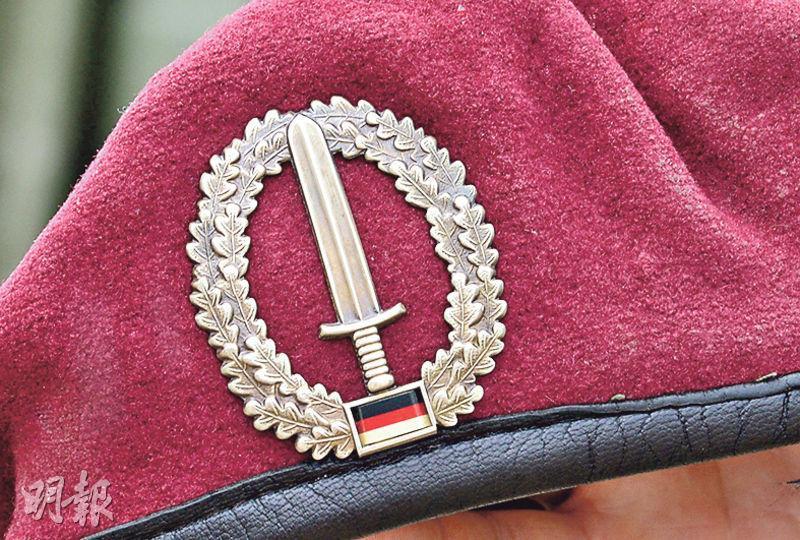 圖為KSK特種部隊徽號。(法新社)