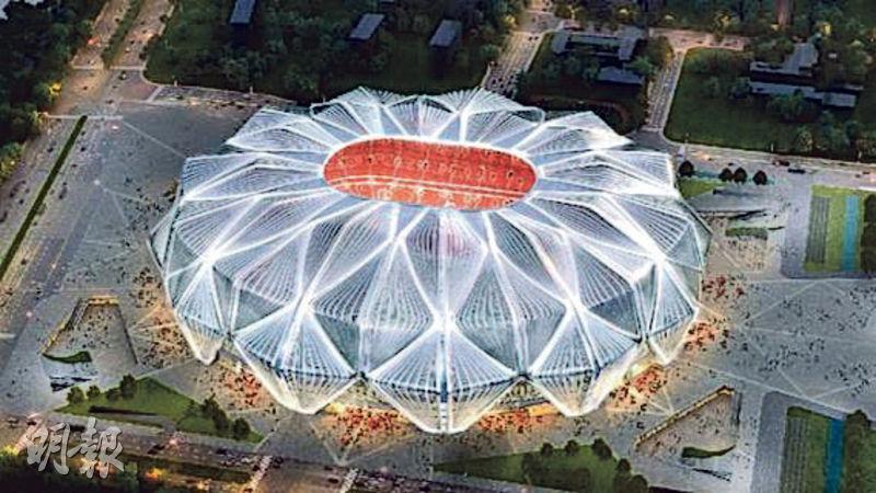 廣州恆大足球場設計靈感來源於「並蒂蓮」。圖為設計效果圖。(網上圖片)