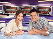 娛樂新聞台主播陳婉衡(左)與許文軒(右),後者表示確診的導演跟他不是在同一位置工作,而且幕後同事都做足防疫措施。(網上圖片)