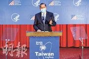 美國衛生部長阿扎昨在台北大學發表約15分鐘演講,他肯定台灣在公共衛生方面領先全球的實力,又指摘中國大陸應對疫情爆發處理不當。(路透社)