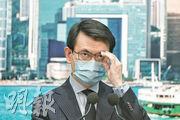 對於美國規定輸美香港產品來源地須標為「中國」,商務及經濟發展局長邱騰華昨批評做法「指白為黑」,違反國際規定。(林若勤攝)