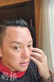 莫少聰在酒店拍片講述抵青海玉樹後的情况。(視頻截圖)