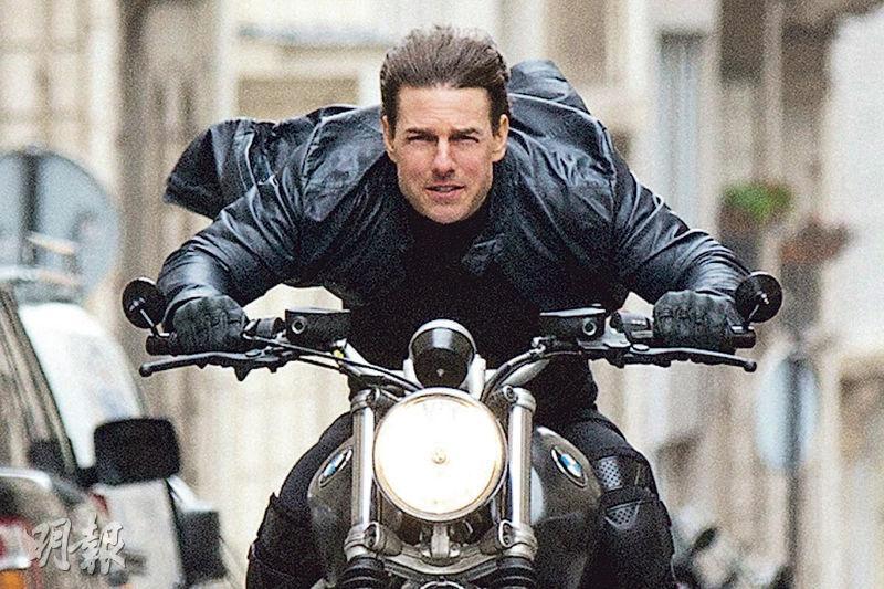 湯告魯斯主演的《職業特工隊7》波折重重,日前拍攝一場電單車戲發生起火意外,幸沒人受傷,但損失不菲。(資料圖片)