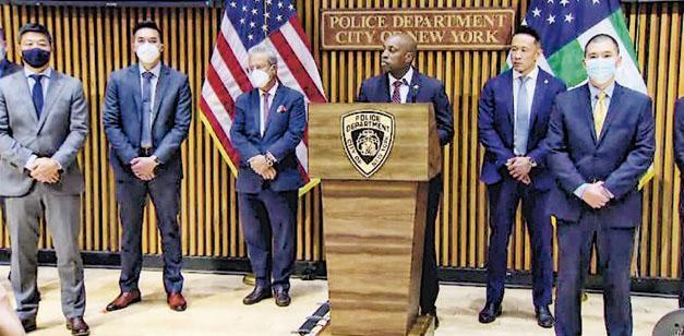 亞裔美國人在新冠疫情面對種族攻擊情况增加,紐約市警察局宣布成立「亞裔仇恨犯罪特遣隊」。(網上圖片)