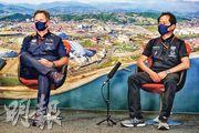 紅牛領隊漢拿(左)表明車隊有長遠計劃,不會隨本田離場而退出F1。(Getty Images)