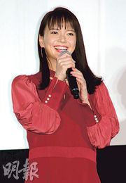 多部未華子稱很開心能與導演青山真治合作。