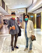汪明荃(右)稱很久沒進戲院睇戲,前日與老公羅家英(左)拍拖睇《奪冠》。(網上圖片)