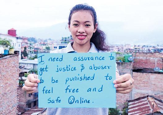 Neha, an 18-year-old from Nepal, is one of the activists. She hopes the campaign can shine a light on the harassment and abuse girls and young women are facing.