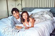 劉晨芝(右)為新歌《幸福的眼淚》拍MV,邀來好友黃建東(左)助陣。(攝影/記者:柯美)
