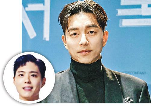 孔劉昨日出席新片《複製人徐福》記者會,大讚拍檔朴寶劍(圓圖)演技令人刮目相看。