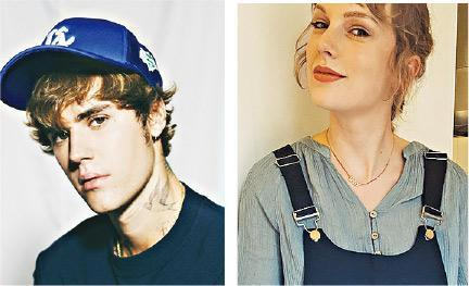 Justin Bieber(左)將在美國音樂頒獎禮迎戰Taylor Swift(右)。