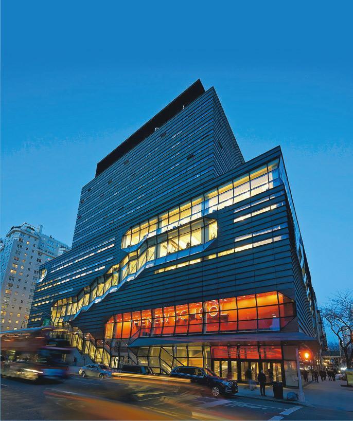 2014年落成的新學院大學中心,位於紐約曼哈頓的第五大道。(新學院網站)