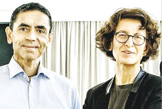伙拍輝瑞研發新冠疫苗的德國BioNTech公司,是由具移民背景的科學家夫婦薩恩(左)及圖雷西(右)所創立。(網上圖片)