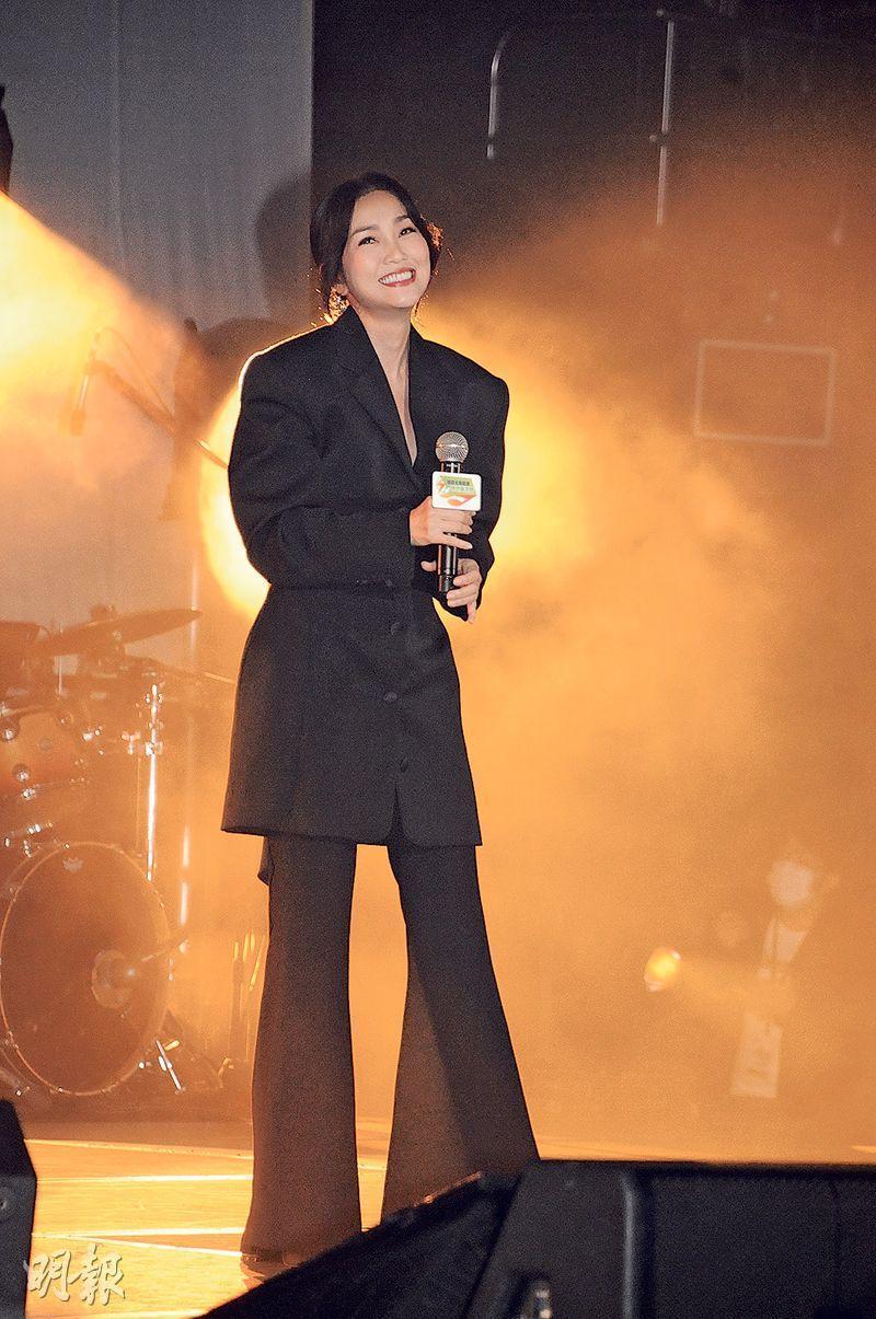 謝安琪對未能入圍「叱咤樂壇我最喜愛的女歌手」沒失望,認為有時要停下來休息一下。(攝影:孫華中)