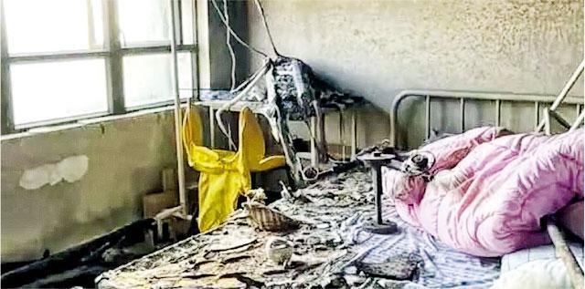 「蛋殼公寓」近日資金斷裂,廣州天河廣場上周四(3日)傳出蛋殼公寓18樓一租客焚毁單位後跳樓。圖為焚毁後的蛋殼公寓。(網上圖片)