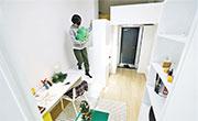 韓國酒店改做青年宿舍,部分屬於小閣樓設計,容許住客下舖上居,下面可作為做生意或創作的空間。(網上圖片)