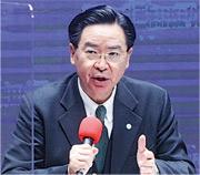 台外長吳釗燮未透露台美「政治軍事對話」內容。(中央社)