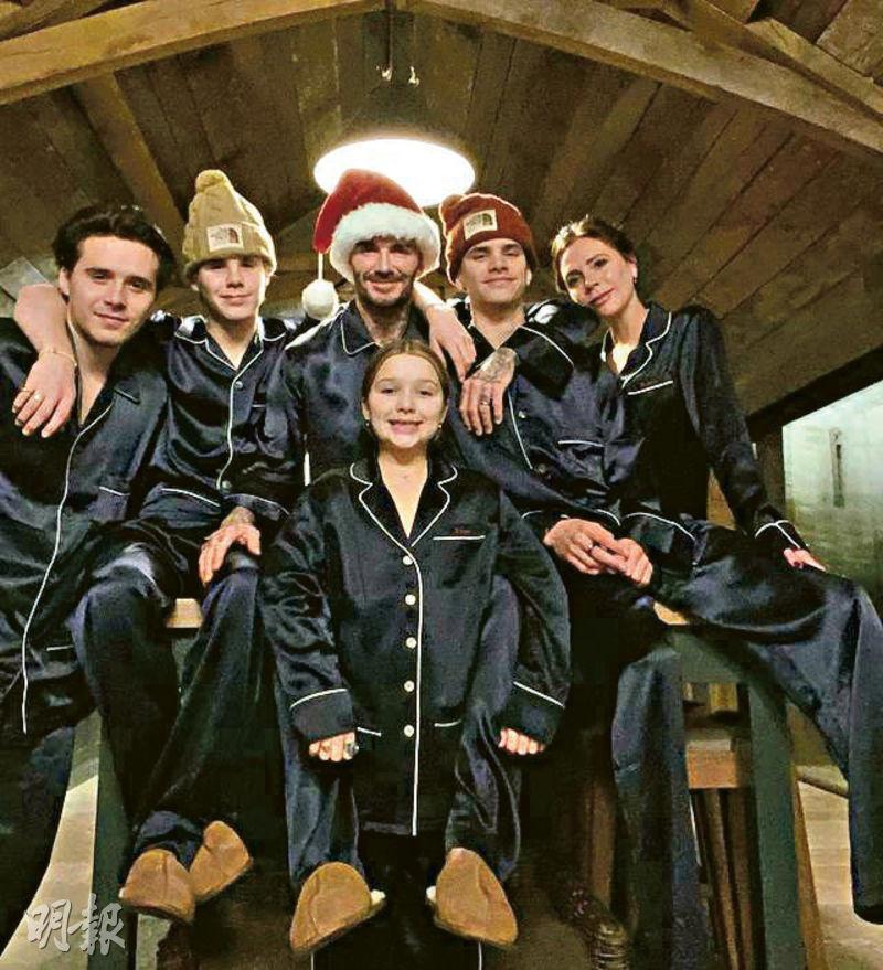 碧咸一家在英國慶祝聖誕後,隨即飛往美國邁阿密歡度新年。