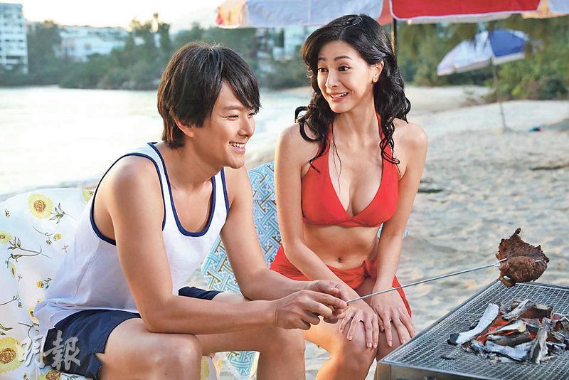 劉芷希(右)在《黃金有罪》與蕭正楠(左)有不少對手戲。(劇照)