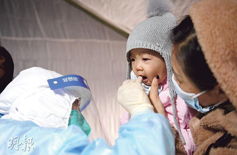 河北省石家莊市日前啟動全市第三輪全員核酸檢測。(新華社)