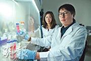 Avant Meats共同創辦人陳解頤(左)及錢寶生(右),研發培養液,製造「細胞培植魚肉」。(馮凱鍵攝)