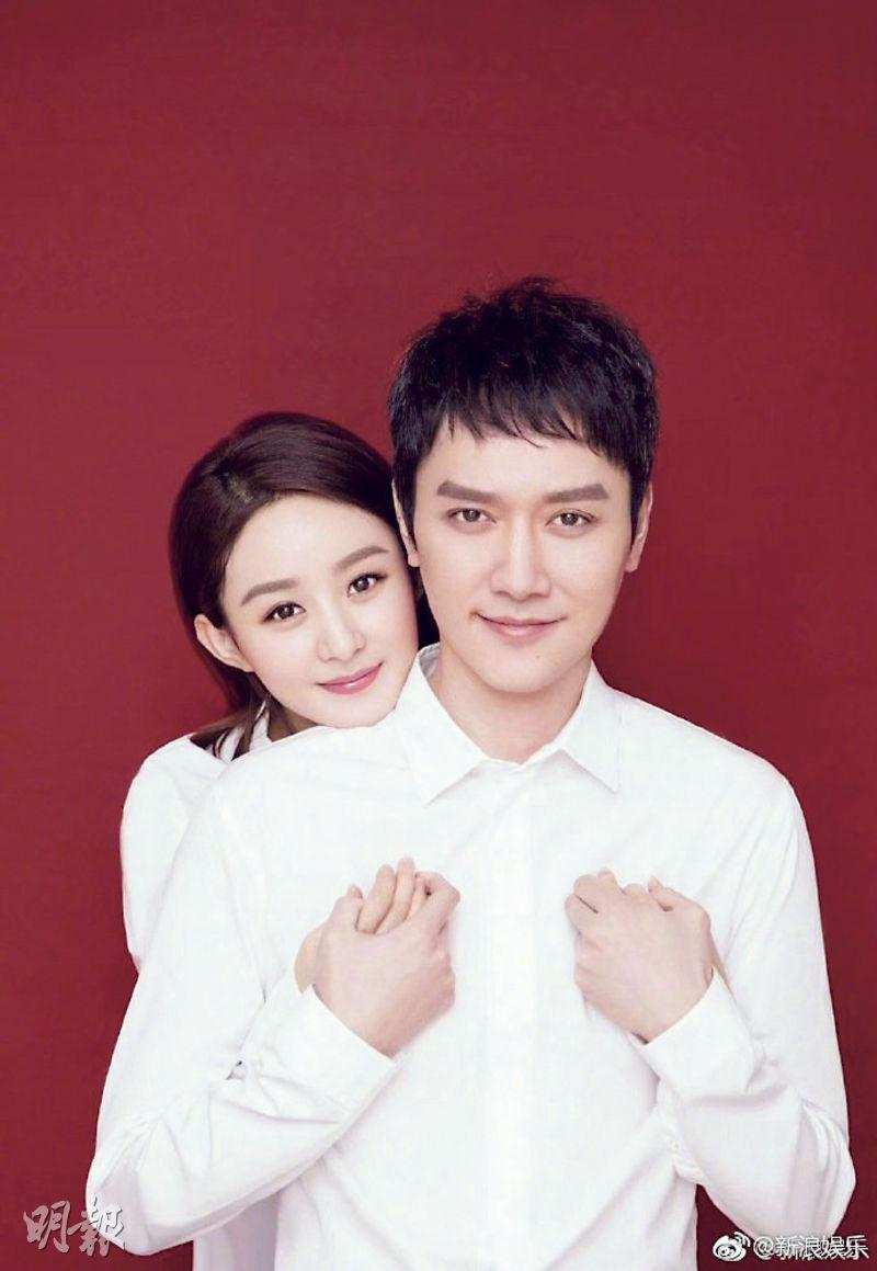 馮紹峰(前)與趙麗穎(後)2018年結婚,婚後育有一子。(資料圖片)