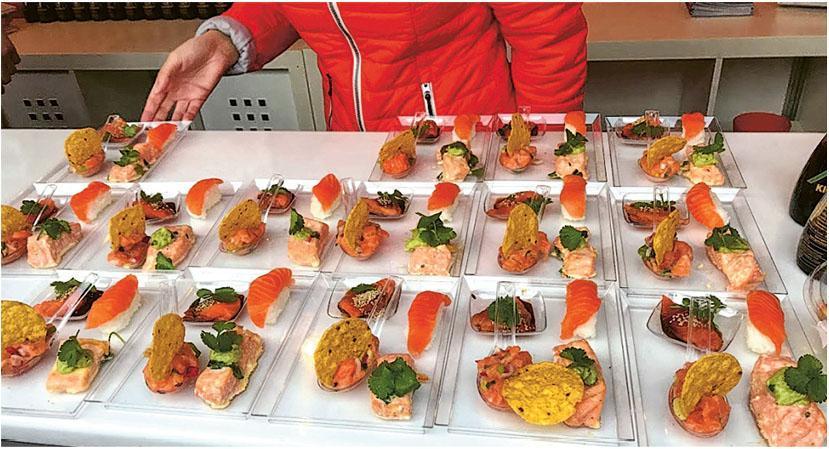 挪威的三文魚產量多,是當地主要食材之一,也出口很多往外地。(受訪者提供)