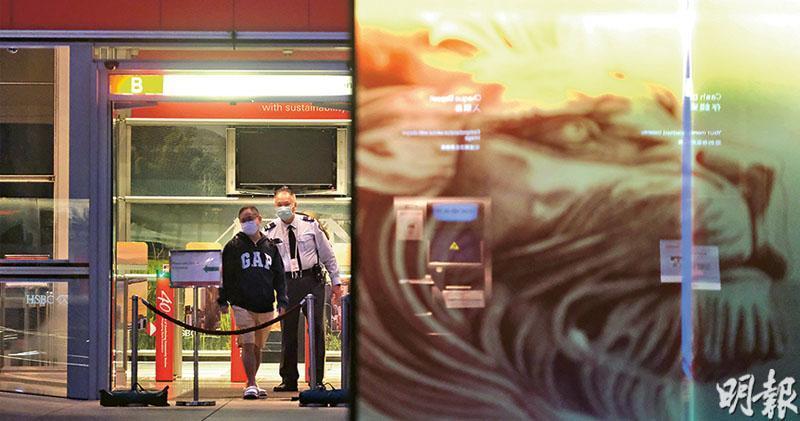 匯豐總行出現3宗新冠病毒確診,當中有人涉URSUS Fitness群組,總行今日起關閉,直至另行通知。(鄧宗弘攝)