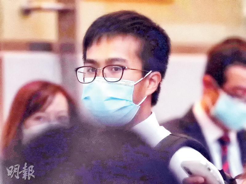 第三被告張俊浩獲准繼續保釋外出。(李紹昌攝)