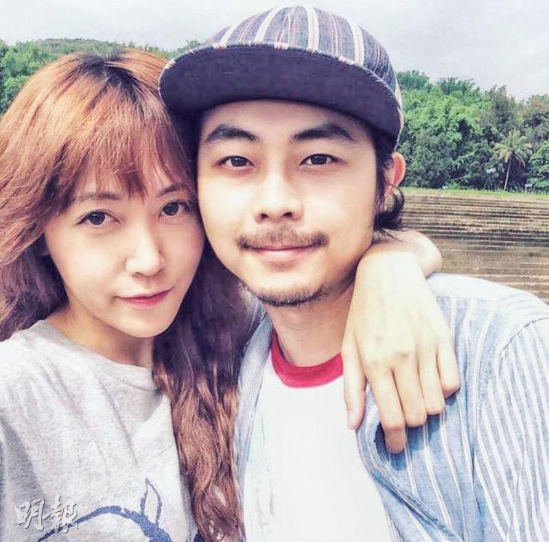 蔣雅文(左)與朱經雄(右)2014年結婚,最後離婚收場。(資料圖片)