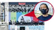 鄭中基站在高台上綵排。(攝影:劉永銳)