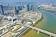 The Greater Bay Area includes nine cities and two districts, which emphasize complementary advantages. The picture shows the Zhuhai Hengqin New Area.(Xinhua)
