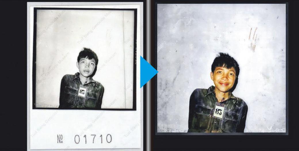 原照片中人物的表情和修改後的表情不同。(網上圖片)