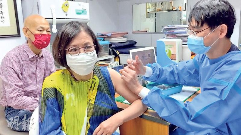汪明荃選擇科興疫苗,稱接種後沒任何不適,又說羅家英因糖尿問題還要等等。
