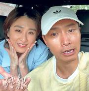 符曉薇(左)與陳柏宇(右)開直播解釋事件來龍去脈,強調絕無離婚念頭。(視頻截圖)