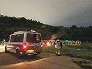 有市民本月27日晚在元朗大棠有機生態園見到有大學生在場辦營火會,曾有警員到場,口頭警告負責人及抄資料,但沒人被票控。(市民Alan提供)